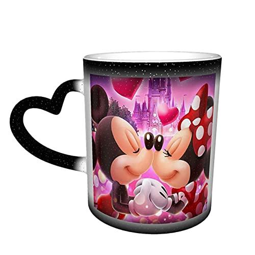 Tazas de té de cerámica con diseño de Mickey Minnie con diseño de ratón de dibujos animados