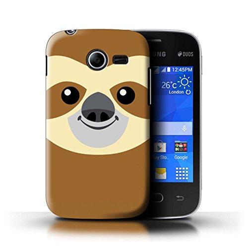 Stuff4® hoes/case voor Samsung Galaxy Pocket 2 / luier patroon/geanimeerde dierengezichten collectie