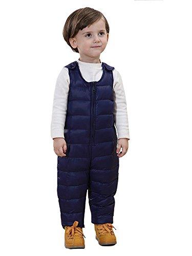 SANSEIJH Unisex Kinder Winter Softshell Warm Schneeanzug Schneehose Overall, Blau, Gr. 90cm(Höhe: 80-90cm )