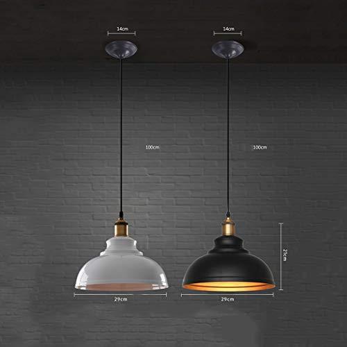 GYW-YW Luces colgantes Lámparas colgantes retro solo Industrial Negro Lámpara del hierro Restaurante Bar Escalera luces, B-29 * 21cm (Color : A29*21cm)