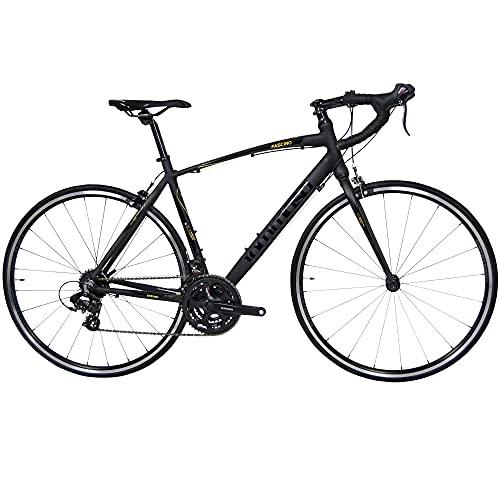 Tommaso Fascino - Sport Performance Aluminum Road Bike, Shimano Tourney, 21 Speeds - Black/Yellow - Medium
