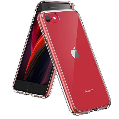 Syncwire Coque Compatible avec iPhone SE 2020, iPhone 8, iPhone 7 - Transparente Housse de Protection en Silicone Rigide Anti Choc Étuis - Transparent