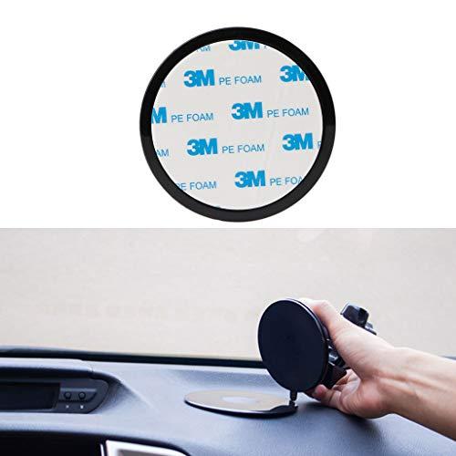 Chiic 1 disco adhesivo para salpicadero de coche para soporte de ventosa, teléfono celular, GPS, tablet, navegador, TomTom Garmin, soporte negro