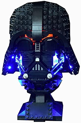 FYHCY 75304 Kit de iluminación LED - Luces compatibles con Lego 75304 Juego de construcción de Casco Darth Vader - (Solo LED Incluido, sin Kit Lego) - Controlado por Placa de identificación