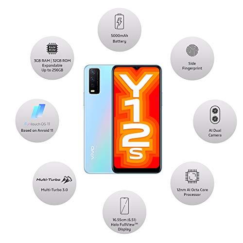 Vivo Y12s (Glacier Blue, 3GB, 32GB ) with No Cost EMI/Additional Exchange Offers 3