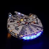LED Light Kit to Decorate Lego Star Wars Millennium Falcon 75257, USB Powered DIY Lights and Wires Pack Without Building Block Model