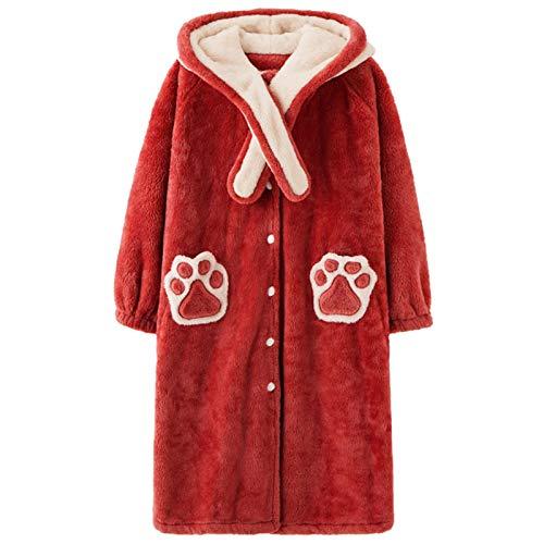 Conjuntos De Pijama para Mujer Conjunto De Pijama De Felpa Polar para Mujer Ropa Deportiva Activa Jersey De Manga Larga Pantalones Deportivos Pijamas Casuales Pijamas(L, Red)