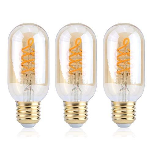 Bubbry bruinlas T45 gloeidraad, 240 V, 4 W, E27, 3 stuks, 2200 K LED-lamp
