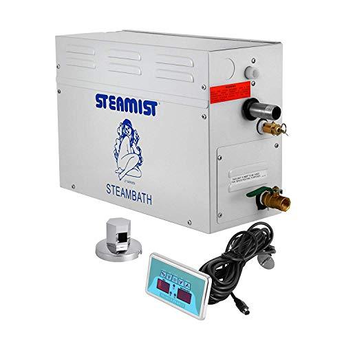 FlowerW 9KW Sauna Ausgangspfad Dampferzeuger Dusche Dampf für Dampfbad kleinen Volumens mit Digitalem Controller