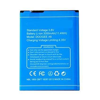 Todobarato24h Bateria Compatible con Doogee X6 / X6 Pro3000 mAh 3.8v