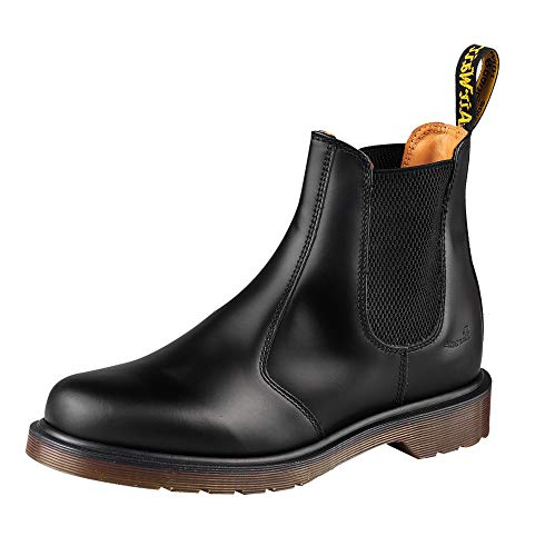 Dr. Martens, 2976 Leather Chelsea Boot for Men and Women, Black Smooth, 12 US Women/11 US Men