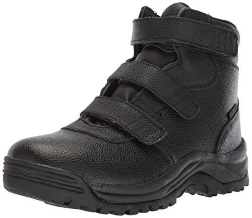 Propet Men's Cliff Walker Tall Strap Hiking Boot, Black, 9 D US