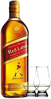 Johnnie Walker Red Label Blended Scotch Whisky 1,0 Liter  2 Glencairn Gläser
