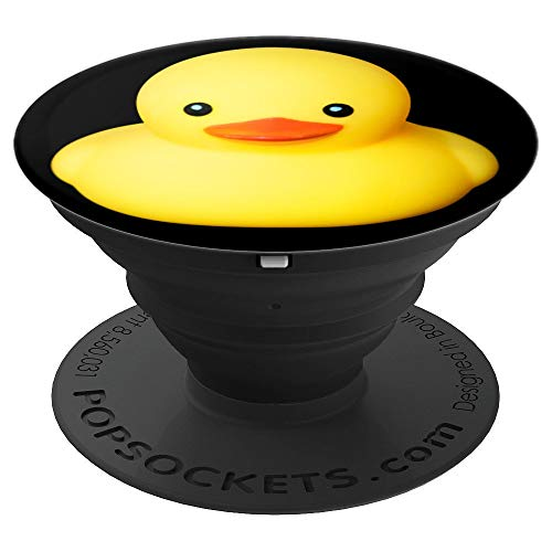 Cute yellow rubber duck mascots PopSockets Grip and Stand for Phones and Tablets