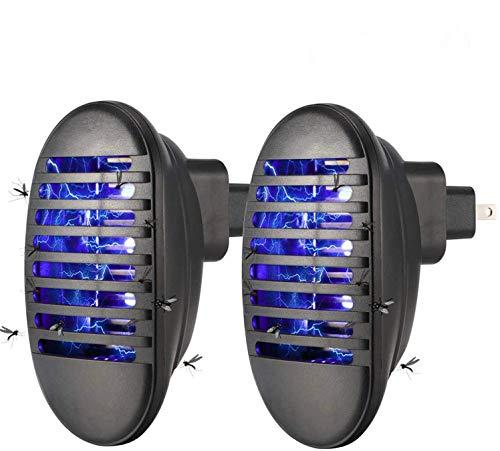 GuDoQi 2 Paquetes Lámpara Antimosquitos Asesino Electrónico del Mosquito Lámpara De Trampa De Insectos No Tóxico Niños Seguros para El Hogar