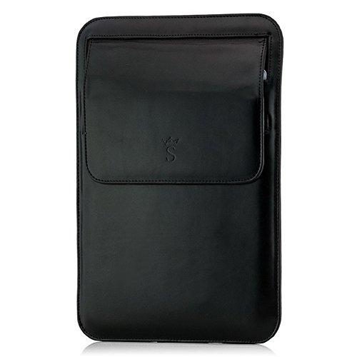 Saxonia Tablettasche Case Schutztasche Universal für 2 Tablets oder Dokumente Hochformat Schwarz