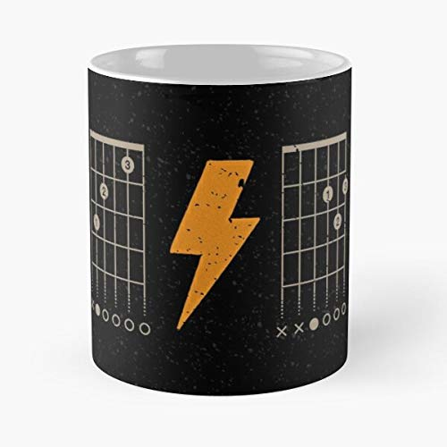 Rock ACDC Guitar Angus Young Blues Solo Roll The Best 11oz White Coffee Mugs Made from Ceramic