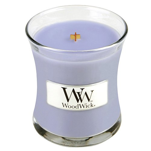 Woodwick Duftkerze im Glas, Wachs, Violett, 7 x 7 x 8 cm