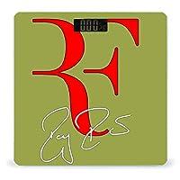 ロジャー・フェデラー テニス 王者 (2) 体重計 デジタル 電子スケール ヘルスメーター 電源自動ON/OFF バックライト付き 高精度ボディースケール コンパクト 電池式 薄型 収納便利 体重管理