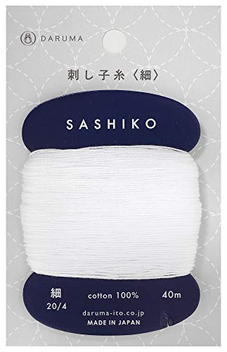 ダルマ刺し子糸〈細〉カード巻きCol.20140m01-2400
