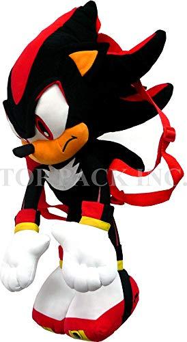 Sonic the Hedgehog Doll Plush Backpack - Shadow Backpack Black (24 Inch)