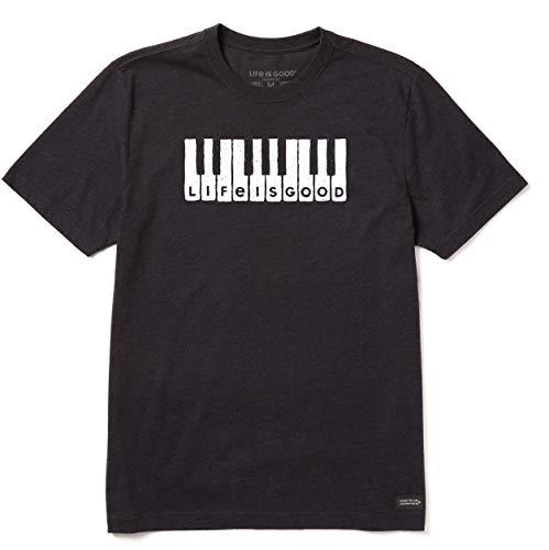 Life Is Good T-Shirt écraseur pour Homme Lig Clavier Crusher XXL Noir de Jais chiné.