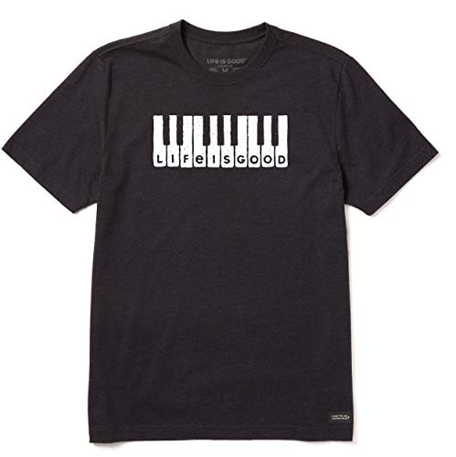 Life Is Good T-Shirt écraseur pour Homme Lig Clavier Crusher XXL Noir de Jais chiné.