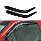YHA 2pcs Compatible with 1994-2001 Ram 1500 2500 3500 Pickup With Standard Mirror Sun Rain Wind Guard Deflector Vent Shade Exterior Door Trim Window Visors In-Channel Style 92352