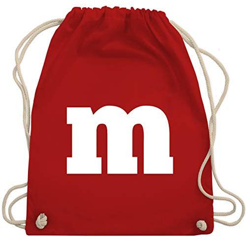 Shirtracer Karneval & Fasching - Gruppen-Kostüm m Aufdruck - Unisize - Rot - karneval und fasching gruppenkostüm m aufdruck - WM110 - Turnbeutel und Stoffbeutel aus Baumwolle