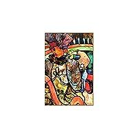ToulouseLautrecアーティストPapaChrysanthèmeサーカス絵画ポスター部屋の装飾のために印刷壁アートワークキャンバス壁アート絵画60x80cmフレームなし