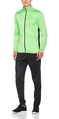 uhlsport Kinder Essential Classic Anzug Trainingsanzug, Flash grün/Schwarz, 140