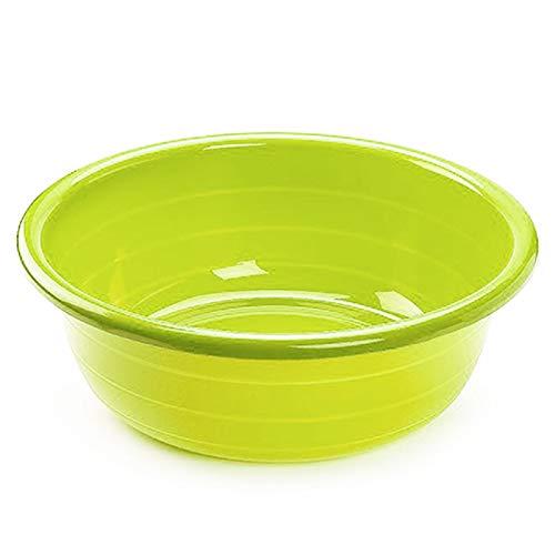 Cubo, barreño, tina de plástico multiuso 56,5 x 18,5 cm. Color y medidas a elegir (30 Litros Redondo, Verde)