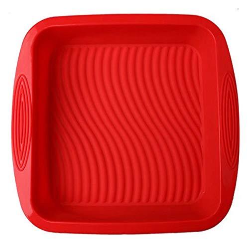 Forma de Silicone Quadrada Vermelha