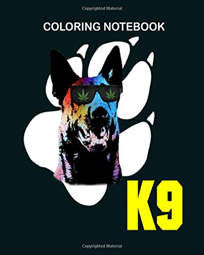 Coloring Book: malinois k9 drug detection dog 8 x 10 inches