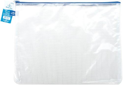 Alvin, PVC Mesh Zipper Bag, 12 inches x 16 inches