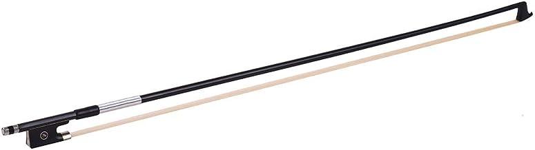 Andoer® Fibra de Carbono 4/4 Tamaño Completo Violín Violín Estilo de Circle Bow Rana de madera de ébano (2)