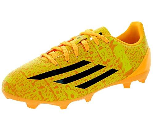 adidas New Boy's F10 FG Messi Soccer Cleats Solar Gold/Black 4