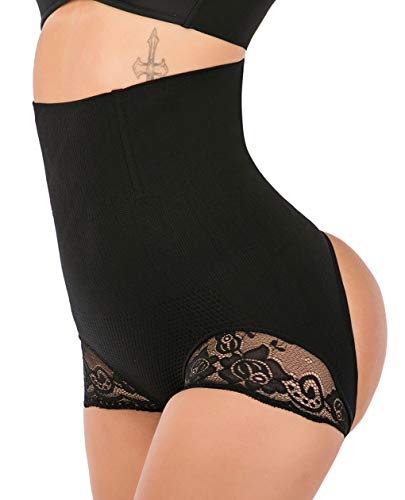 FUT Womens Firm Control Shapewear Butt Lifter Shaper Waist Trainer Cincher Tummy Control Body Shaping Boyshorts Hi-Waist Thigh Slimmer Pants