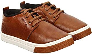 Tryviz Comfortable Latest Brown Casual Lace Up Shoes for Boys & Kids Size