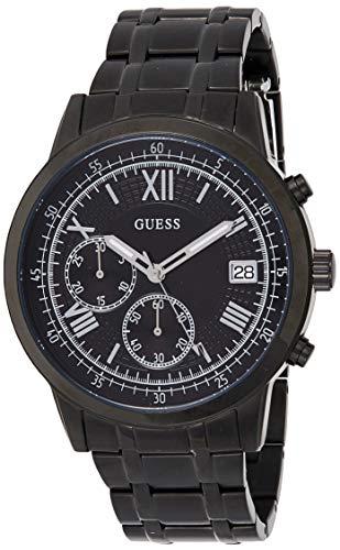 Guess Herren Chronograph Quarz Uhr mit Edelstahl Armband W1001G3