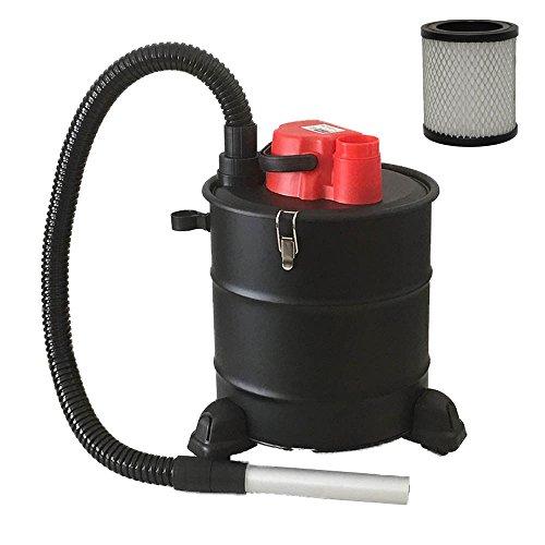 Grafner® Aschesauger mit Rädern 20 Liter 1200 Watt mit HEPA-Filter und Saug- und Blasfunktion Kaminsauger Grillsauger Pelletsauger HEPA Feinfilter