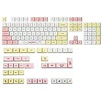 Nrpfell 144キーXDAプロファイルキーキャップ 5サイド染料下塗りPBTキーキャップメカニカルキーボードキーキャップ、MXスイッチ用