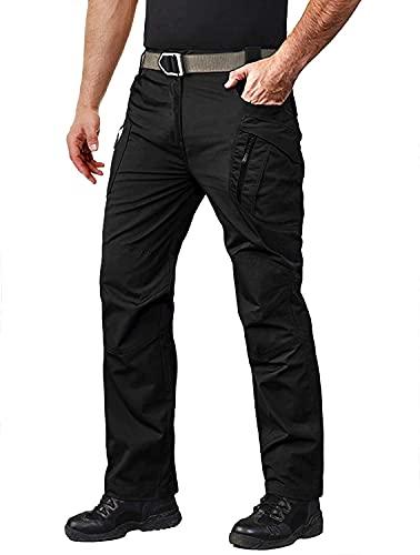 Chagoo 2021 Upgraded Tactical Waterproof Pants,Mens Tactical Pants Water Repellent Ripstop Cargo Pants,Outdoor Hiking Pants for Men Black M