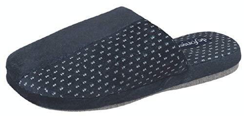 de fonseca Pantofole Ciabatte Invernali da Uomo MOD. Roma Top I M511 Blu (42/43)