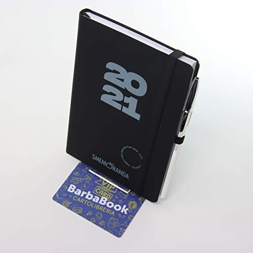 Smemoranda - Agenda semanal 2021 Soft Touch 11 x 16 cm, negra + VIP Card Barbabook