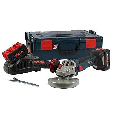 Foto di Smerigliatrice senza fili 18V 2x 7,0Ah procore in L-Boxx GWS 18V-125SC Bosch 06019g3406