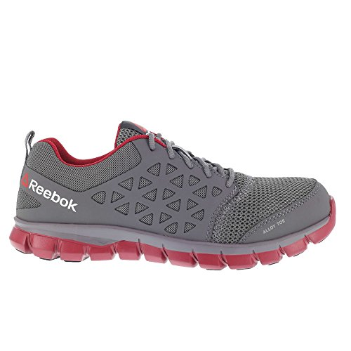 Reebok Work Sublite Cushion Work EH Grey/Red Synthetic 7 D (M)