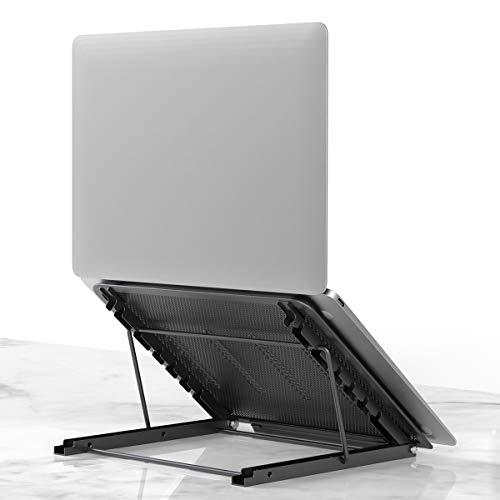 Laptop Tablet Stand, Foldable Portable Ventilated Desktop Laptop Holder, Universal Lightweight Adjustable Ergonomic Tray Cooling (black2)
