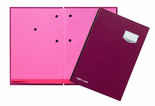 Pagna 24202-01 Unterschriftsmappe, 20-teilig mit ECO-Einband, rosa Löschkarton rot
