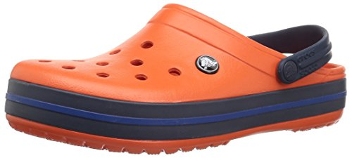 Crocs Crocs Unisex-Erwachsene Men's and Women's Crocband Clog, Tangerine/Marineblau, 37 EU
